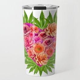 i Heart Pot Leaves Bouquet Travel Mug
