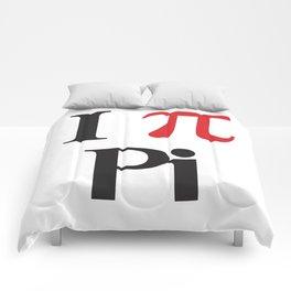 I Heart Pi Comforters