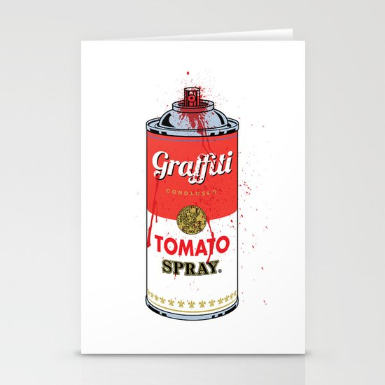 Graffiti Tomato Spray Can Stationery Cards