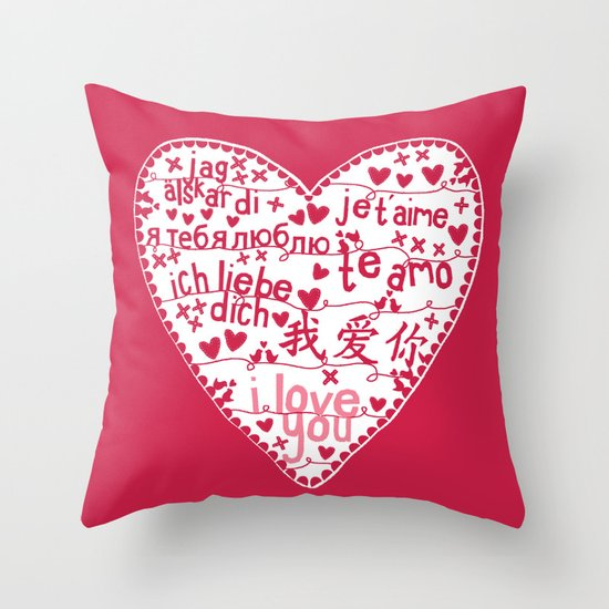 Te Amo Throw Pillow