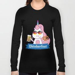 Unicorn Oktoberfest Funny Long Sleeve T-shirt