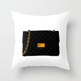 The quilted bag Throw Pillow