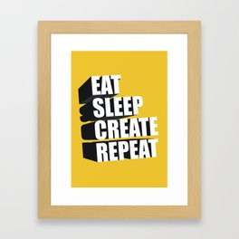 3d Typography Framed Art Print
