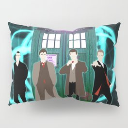 The Doctors And Tardis Pillow Sham