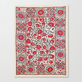 Shakhrisyabz Suzani Uzbekistan Embroidery Print Canvas Print