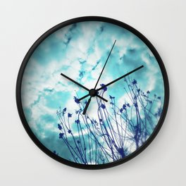 Branches and Cloudy Sky Wall Clock