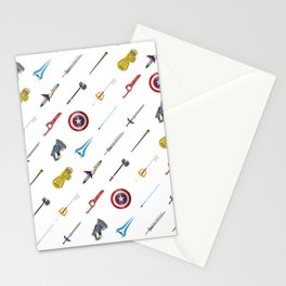 Fantasy Weapons Pattern Stationery Cards