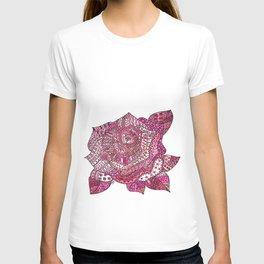 Rose patterns T-shirt