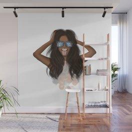 African American Girl With Glasses Friyay Wall Mural