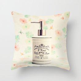French Bath Throw Pillow