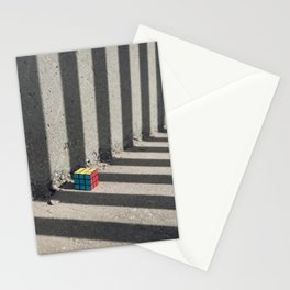 Rubik shading stripes Stationery Cards