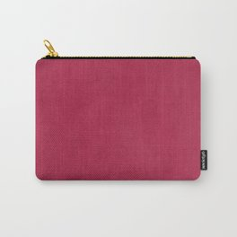Modern girly magenta pink faux leather pattern Carry-All Pouch