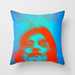 Ditch The Logical  Throw Pillow