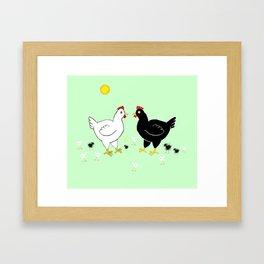 Family Hen Framed Art Print