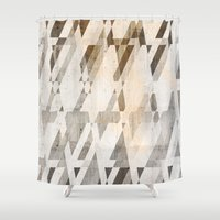 concrete Shower Curtains featuring  Background concrete by Tony Vazquez