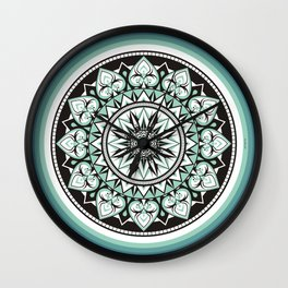 Mandala Design Sea Blue Aqua Theme Wall Clock