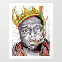 biggie smalls Art Prints featuring Biggie Smalls by Liam Reading