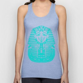 Egyptian Face Blue Unisex Tank Top