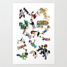 2014 Cartoons 1 Art Print