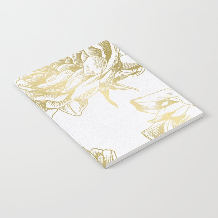 Gold Roses Notebook