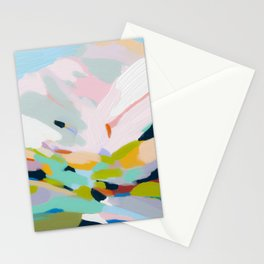 abstract summer hills Stationery Cards