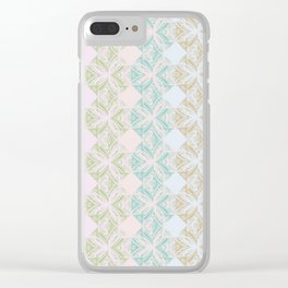 Happy pastels Clear iPhone Case
