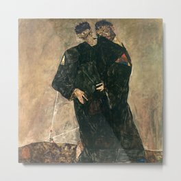 Egon Schiele - The Hermits Metal Print