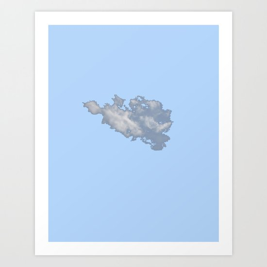 Cloud on Blue 3 Art Print