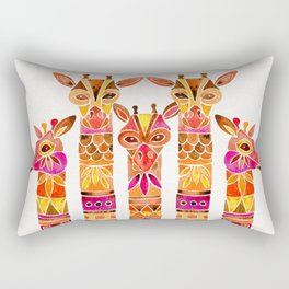 Giraffes – Fiery Palette Rectangular Pillow