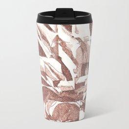 Fractured Flora Dusty Rose Travel Mug