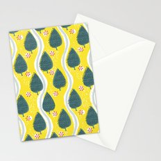ski between the trees Stationery Cards
