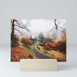 farm in vermont Mini Art Print