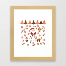 Santa's Christmas Helpers Framed Art Print