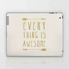 Everything is Awesome (beige edition) Laptop & iPad Skin