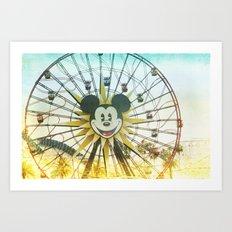 mickey wheel _ disneyland Art Print