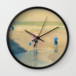 Jack and Jill and Pails Wall Clock