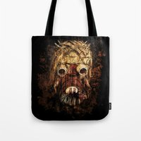 tomb raider Tote Bags featuring Tusken Raider by Sirenphotos