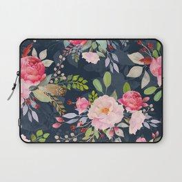 Beautiful Watercolor Floral Flower Pattern Pink Peony Flowers Floral Kingdom Laptop Sleeve