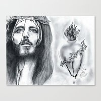 religious Canvas Prints featuring Religious  by Lion Aguirre