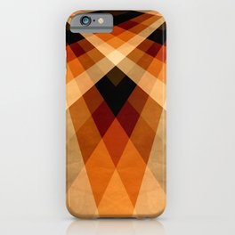Autumn Groovy Checkerboard iPhone Case