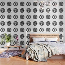 Gearwheel in black and white Wallpaper