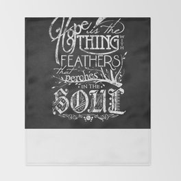 Hope Is The Thing With Feathers Throw Blanket