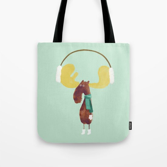 This moose is ready for winter Tote Bag
