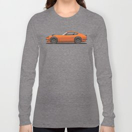 Legendary Classic Orange 240z Fairlady Vintage Retro Cool German Car Wall Art and T-Shirts Long Sleeve T-shirt