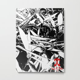 Bamboo Complexity Metal Print