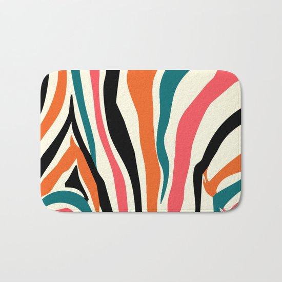 zebra animals  Bath Mat