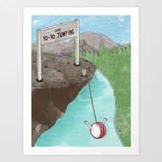 Yo-Yo Jumping! Art Print