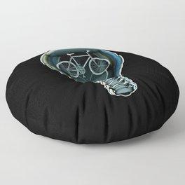 Dark Bicycle Bulb Floor Pillow