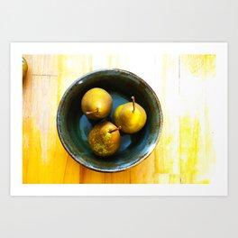 3 Bosc Pears Art Print