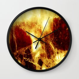 Marbled embers Wall Clock